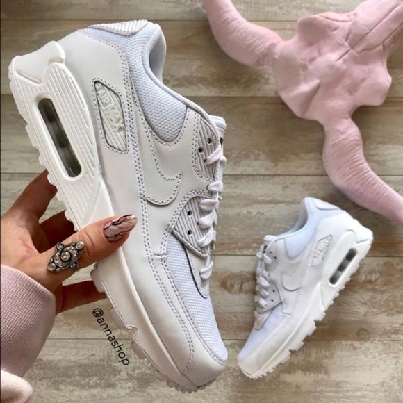661db8ca26 Nike Shoes   Nwt Id Air Max 90 Custom Triple White   Poshmark